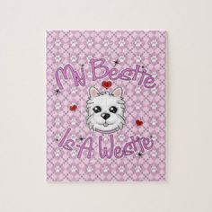 """""""My Bestie Is A Westie"""" GIRL Puzzle - home gifts ideas decor special unique custom individual customized individualized"""