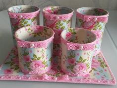 How to make decoupage tin and plastic .- Как сделать декупаж жестяных и пластиковых … How to make decoupage tin and plastic jars, inside the can and outside? Where can I apply them? Watch the video and learn one of the options. Tin Can Crafts, Jar Crafts, Diy And Crafts, Arts And Crafts, Decoupage Tins, Art Books For Kids, Diy Storage Boxes, Recycle Cans, Flowers In Jars