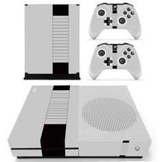 Black Row Style design skin decal for Xbox one S console and 2 controllers  First Video 887ff3a0c6
