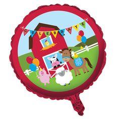 18 inch Metallic Balloon Farmhouse Fun/Case of 10