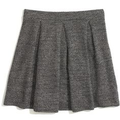 MADEWELL Turnaround Skirt ($60) ❤ liked on Polyvore featuring skirts, mini skirts, bottoms, marled rock, madewell skirt, wet look skirt, stretchy mini skirts, long skirts and pleated skirt