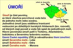 VODSTVO ČESKÉ REPUBLIKY :: Béčko-Tc Geography, Kids Learning, Homeschool, Language, Mindfulness, Science, Teaching, Education, Children