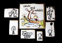 Calvin & Hobbes Sugar Cookies for a Dear Mr. Watterson documentary screening - by Snickety Snacks