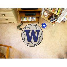 Washington Huskies NCAA Soccer Ball Round Floor Mat (29)