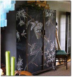 Chalk Board Paint Cabinet