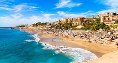 Summer holiday on El Duque beach in Tenerife, famous Adeje coast on Canary island - Spain Florida Hotels, Ibiza, Sailing Lessons, Valencia, Spanish Islands, Helicopter Tour, Surfer, Barcelona, Destin Beach