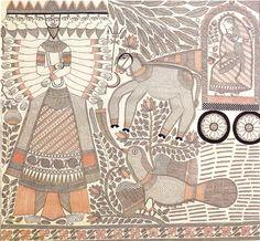 Stories of Rama (II), 1977, detail, Rama killing Ravana / Ganga Devi
