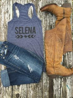 Selena Texas - Tank  by Stateline Designs Available Now on mystatelinedesigns.com