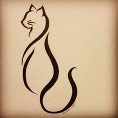 Elegant cat tattoo :)