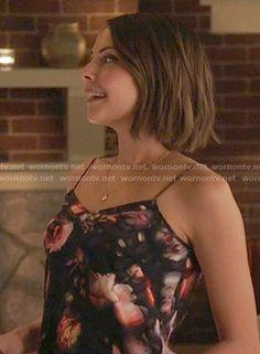 Thea's floral cami on Arrow.  Outfit Details: https://wornontv.net/55660/ #Arrow
