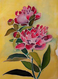 Malowanie na jedwabiu Batik Art, Batik Prints, Home Design Decor, Design Ideas, Alcohol Ink Crafts, Flower Sketches, Fabric Painting, Watercolor Flowers, Art Drawings