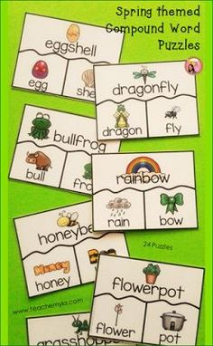 Compound Word classroom activity for Spring theme $