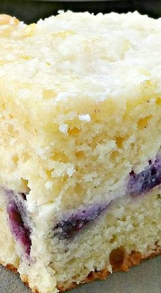 Blueberry Lemon Cream Cheese Coffee Cake ~ The best coffee cake ever