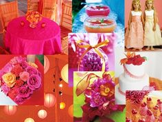 Orange and Hot Pink Wedding Theme Trends