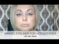 Another great youtube tutorial on winged eyeliner and cat eye liner for hooded/deep-set eyes. She demonstrates several different methods.
