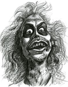 Michael Keaton as Betelgeuse/Beetlejuice by ~Caricature80 on deviantART