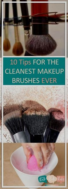 10 tips for the cleanest makeup brushes makeup brushes, makeup brushes clean . - 10 tips for the cleanest makeup brushes makeup brushes, cleaning makeup brushes … # the - Makeup Brush Hacks, Diy Makeup Brush Cleaner, How To Wash Makeup Brushes, Best Makeup Brushes, Best Makeup Products, Makeup Tips, Eye Makeup, Beauty Products, Makeup Ideas