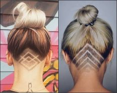 Hair Extensions - Cool Undercut Female Hairstyles To Show Off | patterns