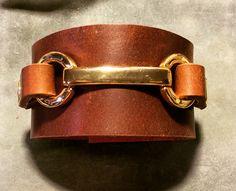Joxasa horsebit leather cuff.