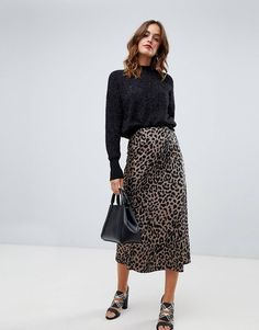 S glitter knitted high neck jumper. With a variety of delivery, payment and return options available, shopping with ASOS is easy and secure. Shop with ASOS today. Midi Skirt, Sequin Skirt, High Neck Jumper, Asos, Leopard Print Skirt, Glitter, Skirts, Clothes, Shopping