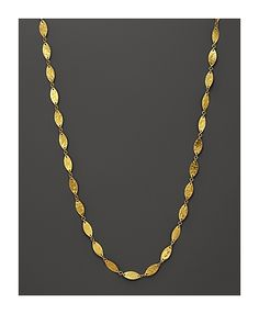 Gurhan Long 24k Geometric Willow Flake Station Necklace, 40