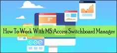 Learn how to create, edit or delete switchboard in Access. Try easy fixes to solve MS Access Switchboard Manager missing issue. Past Tense, All Icon, Microsoft, Ms, Management, Learning, Create, Studying, Teaching