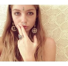 Annalise Mclachlan wearing My sun, my moon and all my stars earrings http://www.whitesthour.com/collections/earrings/products/my-sun-my-moon-and-all-my-stars-earrings & Ganesh ring http://www.whitesthour.com/collections/rings/products/ganesh-ring #aussie #ganesh #moon #sun #stars #boho #blogger #model #hippy #whitesthour #jewellery