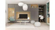 Un bain de lumière, aménagement appartement villeubanne Living Room Tv, Home And Living, Muebles Living, Interior Architecture, Interior Design, Home Salon, Apartment Design, Home Deco, Living Room Designs
