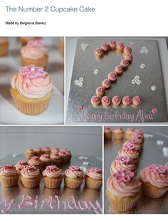 Pink Minnie Mouse Pull Apart Cupcake Cake In The Shape Of