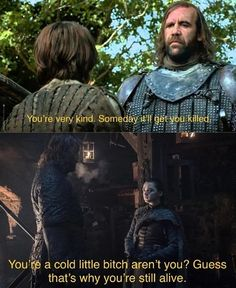 Arya and the Hound, Season Game of Thrones. Arya and the Hound, Season Game of Thrones. Hound Game Of Thrones, Game Of Thrones Meme, Game Of Thones, Got Characters, Got Memes, My Sun And Stars, Fandoms, Winter Is Here, Valar Morghulis