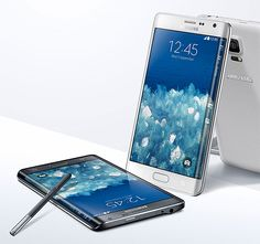 Galaxy Note Edge The defining feature of Samsung's new flagship phone, the Galaxy Note Edge is the phone's wraparound edge. It's like having 2 OLED displays in one: they're connected but separate, allowing you to access apps using the widget icons on the edge.