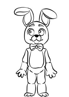 bonnie coloring pages for kids | how to draw springtrap from five nights at freddys 3 step ...