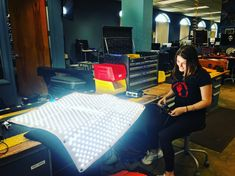 Here's new summer intern, Olivia from Boston University, checking in the Aladdin Fabric-Lite with QC. Boston University, Aladdin, Workplace, Fabric, Summer, Tejido, Tela, Summer Time, Cloths