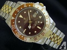 Rolex 14k Gold/ss Stainless Gmt-master Date Watch