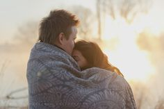 Winter morning couple shoot by Gingerale Photography