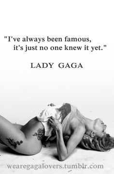 Lady Gaga ... Love this.
