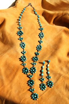 Navajo Indian Long and Luxurious Carico Lake Turquoise Necklace