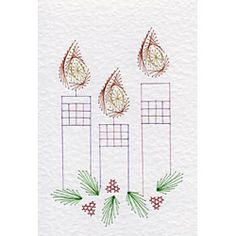 Christmas Candles | Christmas patterns at Stitching Cards.