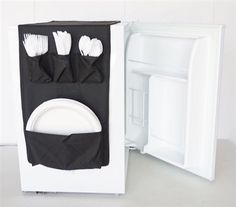 Great idea for a small office or dorm room. COOKIN CADDY - OVER THE FRIDGE STORAGE ORGANIZER.
