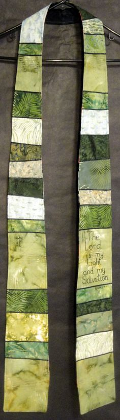 Green Reversible Stole  Great gift for Clergy