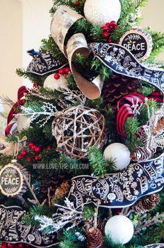 Lumberjack Christmas Tree by Love The Day   Michael's Dream Tree Challenge 2015