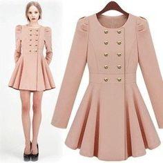 Beautiful Romantic Flounce coat in pink!