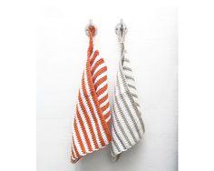 Handtücher - Gästehandtücher Lale von emdo orange/beige - ein Designerstück von em-do bei DaWanda