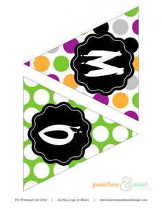 free halloween party printable banner---More letters included