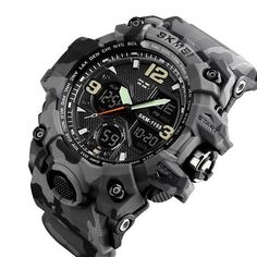 Brand Luxury Military Sports Watches LED Digital Sport Watches, Watches For Men, Wrist Watches, Men's Watches, Mens Digital Watches, Waterproof Watch, Watch Case, Casio Watch, Chronograph