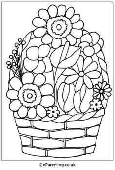 Flower Clip Art Coloring Pages Elegant Index Of Colouringpages Xmasimages Spring Coloring Pages, Coloring Pages For Girls, Flower Coloring Pages, Free Coloring Pages, Printable Coloring Pages, Flower Images, Flower Pictures, Free Coloring Pictures, Basket Drawing