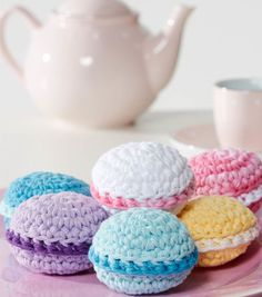 Crocheted Macaroons - free pattern