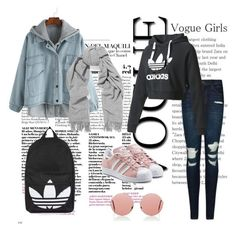 """""""Outfit my style"""" by evelina-hagstrom on Polyvore featuring Topshop, Acne Studios, adidas Originals, J Brand, adidas and Christopher Kane"""