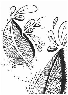 Le Creazioni di Kiara: crazy for DOODLING FEATHERS ... piume piumette e piumaggi!