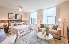 Stunning bedroom in Baltimore, MD! Love the decor and color scheme! This bedroom would be easily replicate!